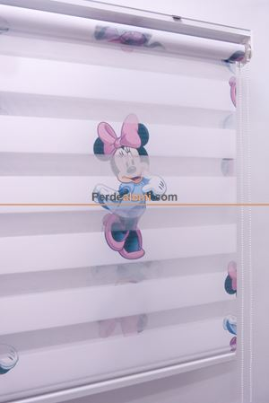 Minnie Mouse Zebra Perde